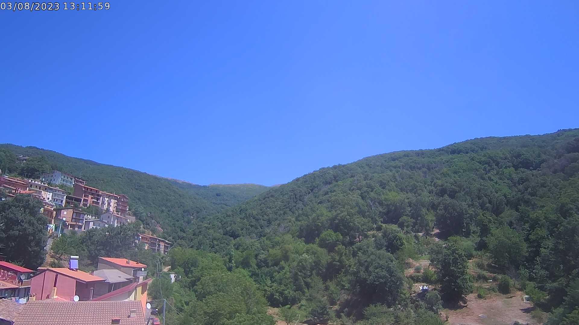 Webcam a Desulo (NU), vista a Nord-Est